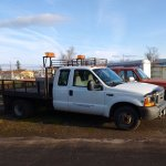 This 1998 flatbed truck is just one of the many vehicles available or sale at BGPS' Surplus Sale