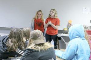 STRIPES mentors address a class of freshman