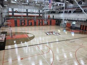 Battle Ground High School gym's new floor