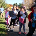 Pleasant Valley 3rd graders doing field research