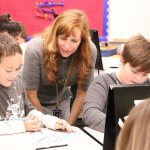 Diana Sterle teaching her STEM class