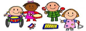 Cartoon drawing of preschool kids