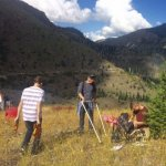 CASEE Students doing Environmental Science field work