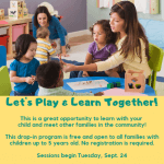 Flyer for Let's Play and Learn Together