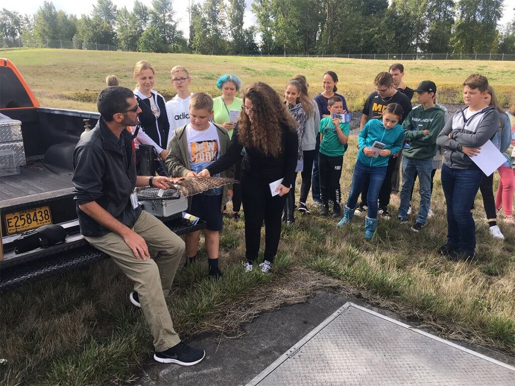River HomeLink students on a field trip to PDX