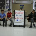 Captain Strong Primary students greet veterans