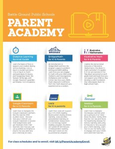 Parent Academy Flyer