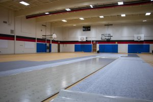 Gym floor being replaced
