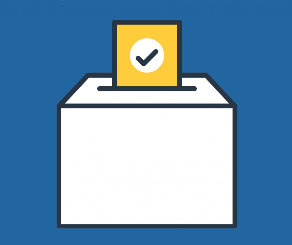 Voting box graphic