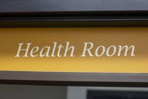 Health Room sign